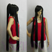 Ponytail Black Long Cute Fibre Hair Cosplay Costume Synthetic Anime Full Wig