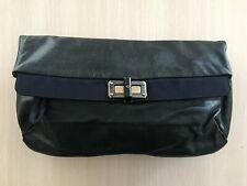 Lanvin Happy Pop Navy Blue Leather Clutch Bag