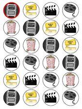 X24 Movie Cinema Film POPCORN festa di compleanno calcio DECORAZIONI PER TORTA COMMESTIBILI Carta di riso