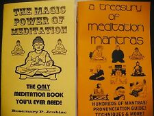 MEDITATION mantras book lot 2 BOOKS with EVERYTHING you EVER need to know!!!