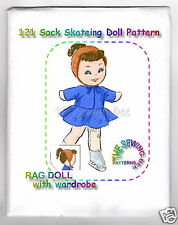 Ice Skating Rag - Sock Doll pattern with outfit No. 121 vintage