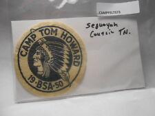 BOY SCOUTS FELT CAMP PATCH TOM HOWARD SEQUOYAH COUNCIL TN   CAFT73