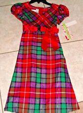 Ashley Ann plaid formal dress girls size 5 red purple Holiday Christmas