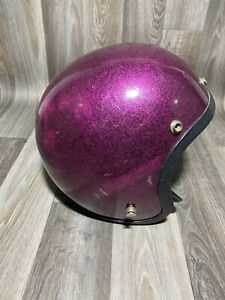 Norcon TW-1 Motor Cycle Helmet in Rare Purple Metal flake  and Black Color L