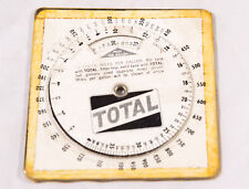 VINTAGE TOTAL PETROL MILES PER GALLON CALCULATOR - ANALOGUE - SLIDE RULE