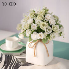 1 Bouquet Silk Artificial Rose Peony Flowers Fake Wedding Home Garden PartyDecor