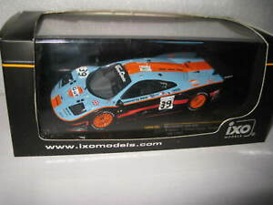 IXO 1/43 Le Mans 1997 McLAREN F1 GTR #39 GULF BELLM GILBERT-SCOTT SEKIYA  LMM105
