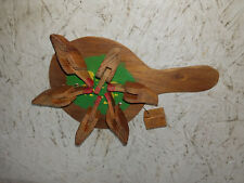 Wood Chicken Hen Pecking Paddle Game Hand  Hand made    NEAT !!!!