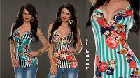 top smanicato righe&rose 3 varianti colore taglie: S/M ; L/XL