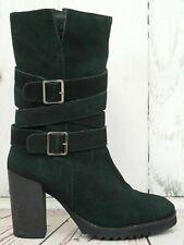GAMLOONG ☘ Stiefel Gr. 39 Damen Leder Veloursleder Schwarz Schuhe Shoes Boots