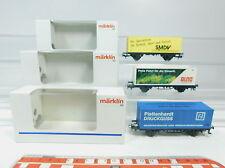 Aw994-0, 5# 3x Märklin h0 Carro container: Plattenhardt +4482.016 Alno + SMDV, Neuw