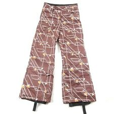 Spyder XT Kids Brown Snow Ski Snowboard Pants Youth Boys Girls Size 14 EUC