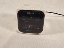 Vintage Sony Dream Machine FM/AM Clock Radio ICF-C120 White/Black-Face-Cube TEST