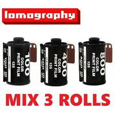 MIX 3 Rolls - Lomography ISO 100 + 400 + 800 Color 135 36exp 35mm Negative Film