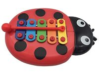 BEETLE XYLOPHONE 5-Note Red Musical Toy Baby Kids Child Development Wisdom UK