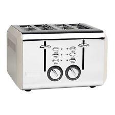Haden Cotswold Wide Slot Stainless Steel Retro 4 Slice Toaster, Beige (Open Box)