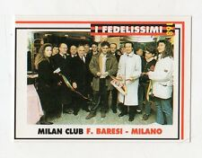 figurina card - CALCIATORI MILAN  MASTER CARDS  - n. 168 F. BARESI - MILANO