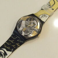 """Vintage SWATCH Watch """"Baiser D'Antan"""" GRB148 1992 Piero Fornasetti NEW Old Stock"""