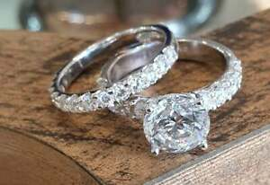 Gorgeous And Classic Solitaire Engagement Set With 5.54CT Clear CZ Women's Ring