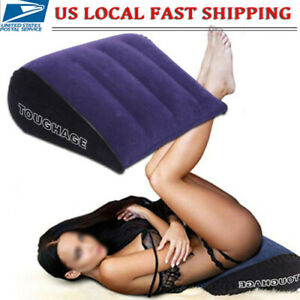 Inflatable Sex Pillow Wedge Microfiber Cushion Adult Love Position Furniture US
