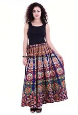 Indian Women Ethnic Mandala Printed Cotton Long Skirt Wrap Around Hight Waist