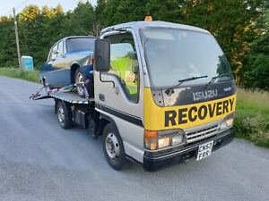 ISUZU NKR 77 TURBO ELECTRIC 3.5T RECOVERY TRUCK, BEAVERTAIL, FLATBED