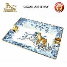LUBINSKI Vintage Zigarre Aschenbecher 2 Zigarre Halter Keramik Aschenbecher Neu