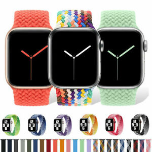 Braided Solo Loop Nylon Band For Apple Watch Series 6 5 4 3 SE 38/40/44 MM Strap