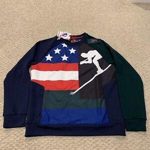 Polo USA Ski Ralph Lauren 92 Crewneck Sweatshirt NWT New With Tags Mens Small