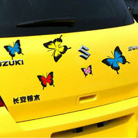 Lovely Vinyl Colorful Butterfly Car Sticker Auto Scratch Cover Decal Emblem 1 PC