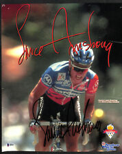 SIGNED AUTOGRAPHED LANCE ARMSTRONG TOUR DE FRANCE VINTAGE FULL SIG BECKETT BAS