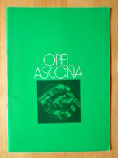 OPEL ASCONA Range orig 1978 UK Mkt Sales Brochure