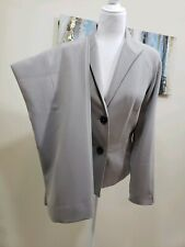 JONES NEW YORK COLLECTION Women 2PC Elegant Gray Nude Pant Suit Size 12