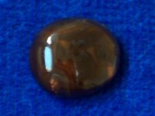 NATURAL FIRE AGATE OVAL CABOCHON -- 15 mm x 17 mm