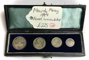 Maundy Money 1897 Boxed uncirulated