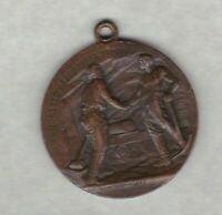 1905 ITALY BRONZE INDUSTRIAL MEDAL NEAR EXTREMELY FINE CONDITION