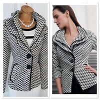 JOSEPH RIBKOFF Studded Collared Jacket Uk Size 12
