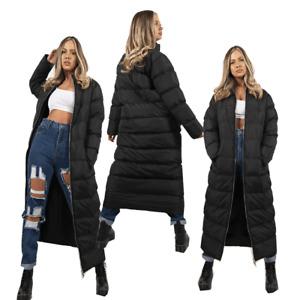 JYO Womens Black Maxi Jacket Longline Puffer Coat ( RVMAXI )