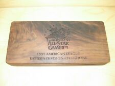 Toronto 1991 All-Star Game American League Eastern Division Champs Teak Wood Box
