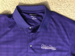 Oxford Purple Men's XL Golf Polo Shirt - Trade Winds Resort