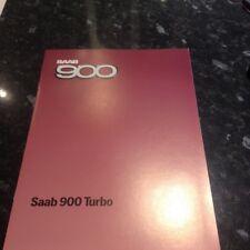 SAAB 900 Turbo BROCHURE-Menta 1984.