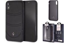 Genuine Maserati Granlusso Leather Cover Case for iPhone XS Max