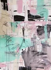 "JOSE TRUJILLO - Original Artwork ACRYLIC PAINTING ABSTRACT BUTTERFLY COA 18x24"""