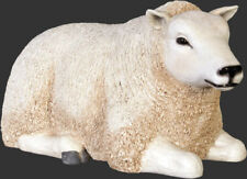 Lamb Statue - Small Lamb Statue - White Texel Lamb - Small - Resting