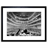 Music Metropolitan Opera House New York Auditorium Framed Print 9x7 Inch