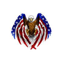 1× Bald Eagle USA American Flag Car Sticker US Truck Laptop Window Bumper Decal