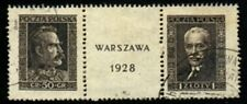 Poland Mi 254-55 USED Sc 251ab Value 340 Euro