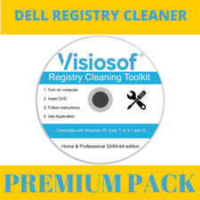 DELL Registry Cleaner Mechanic Repair Recovery CD DVD Windows XP VISTA 7 8 10