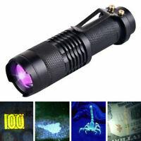 UV ultra violet led flashlight blacklight light 395 nm inspection lamp torch YJ