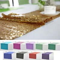 """12"""" x 72"""" Sparkly Sequin Table Runner Wedding Birthday Party Banquet Decorations"""
